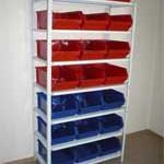 Стеллажи для пластиковых ящиков - Архивное и складское оборудование