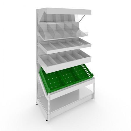 Стеллаж фруктово-овощной комбинированный пристенный - Архивное и складское оборудование