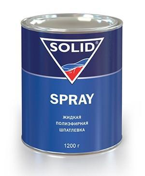 319.1000 SOLID SPRAY Жидкая шпатлевка для окончательных работ (1200 гр.) - Архивное и складское оборудование