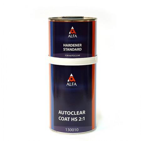 ALFA прозрачный лак autoclear coat HS 2:1 в комплекте с отвердителем (1000 + 500 мл.)  - Архивное и складское оборудование