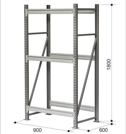 Стеллажная система. Модель1 - Архивное и складское оборудование