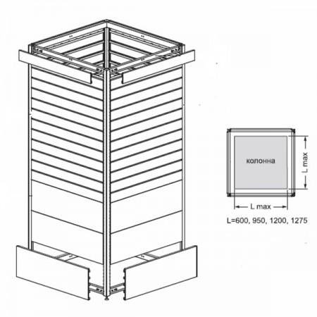 Стойка для обшивки колонн - Архивное и складское оборудование