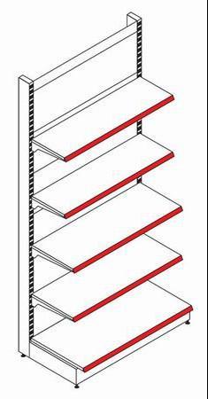 Стеллаж пристенный (приставная секция) - Архивное и складское оборудование