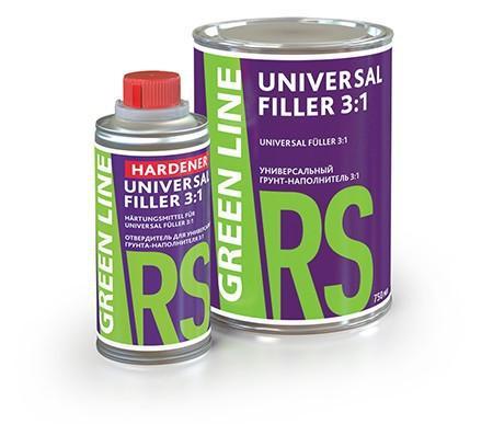 GREEN LINE HARDENER UNIVERSAL FILLER  3:1 отвердитель для грунта-наполнителя универсального (250 мл.) - Архивное и складское оборудование
