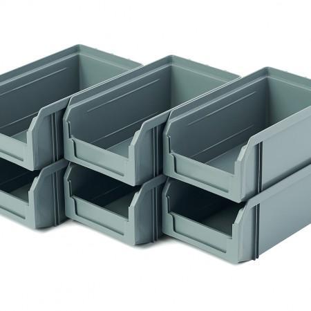 Пластиковый ящик Стелла-техник V-1-К6-серый - Архивное и складское оборудование