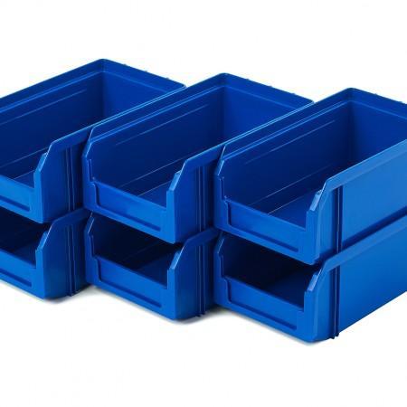 Пластиковый ящик Стелла-техник V-1-К6-синий - Архивное и складское оборудование
