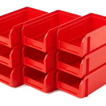 Пластиковый ящик Стелла-техник V-1-К9-красный - Архивное и складское оборудование