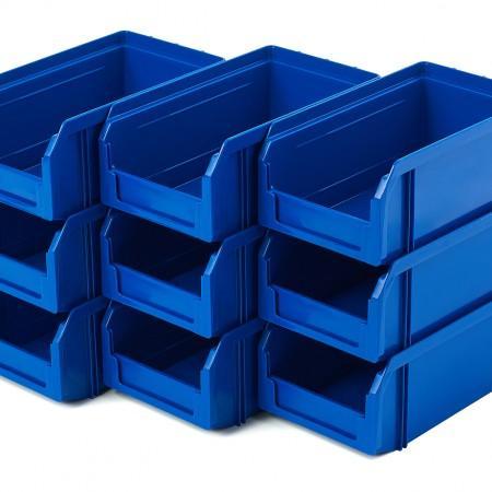 Пластиковый ящик Стелла-техник V-1-К9-синий - Архивное и складское оборудование