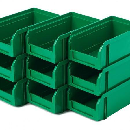 Пластиковый ящик Стелла-техник V-1-К9-зеленый - Архивное и складское оборудование