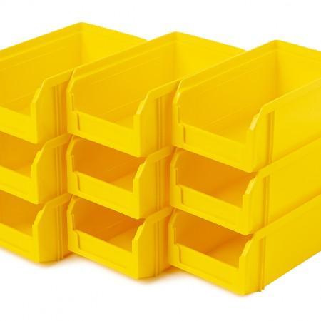 Пластиковый ящик Стелла-техник V-1-К9-желтый - Архивное и складское оборудование