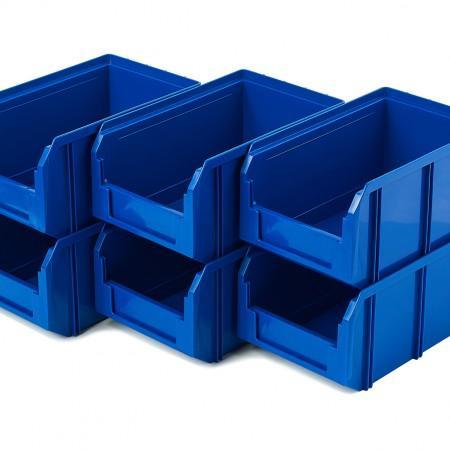 Пластиковый ящик Стелла-техник V-2-К6-синий - Архивное и складское оборудование