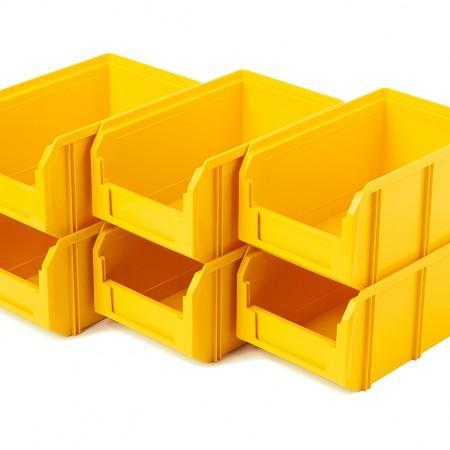 Пластиковый ящик Стелла-техник V-2-К6-желтый - Архивное и складское оборудование