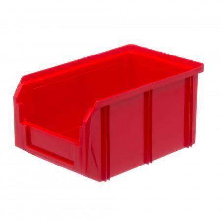 Пластиковый ящик Стелла-техник V-2-красный - Архивное и складское оборудование