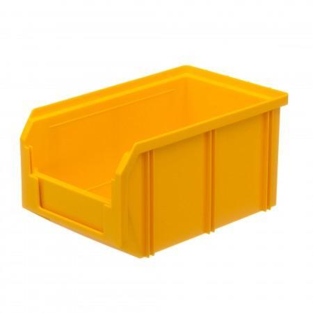 Пластиковый ящик Стелла-техник V-2-желтый - Архивное и складское оборудование