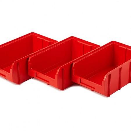 Пластиковый ящик Стелла-техник V-3-К3-красный - Архивное и складское оборудование