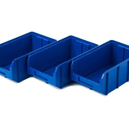 Пластиковый ящик Стелла-техник V-3-К3-синий - Архивное и складское оборудование