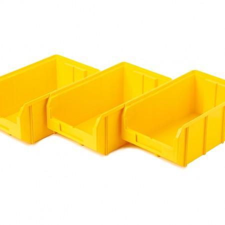 Пластиковый ящик Стелла-техник V-3-К3-желтый - Архивное и складское оборудование