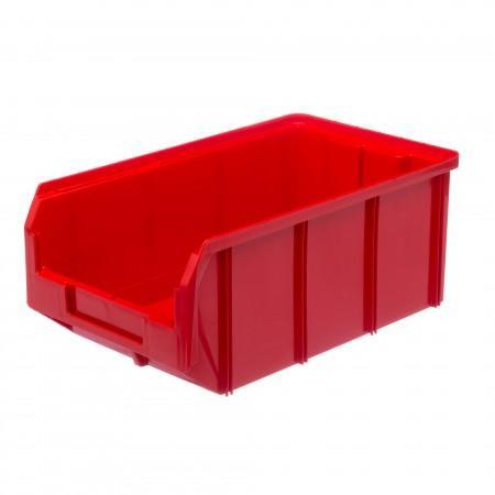 Пластиковый ящик Стелла-техник V-3-красный - Архивное и складское оборудование