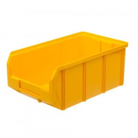 Пластиковый ящик Стелла-техник V-3-желтый - Архивное и складское оборудование