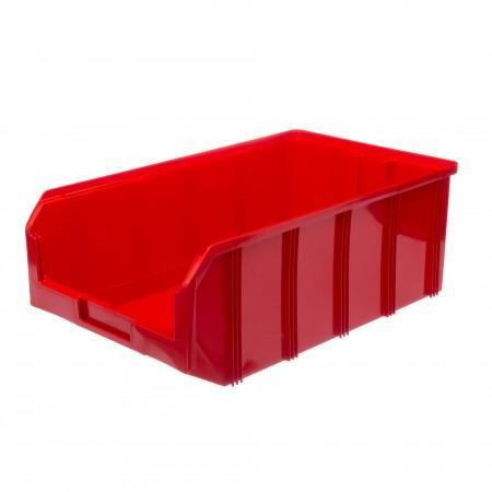 Пластиковый ящик Стелла-техник V-4-красный - Архивное и складское оборудование