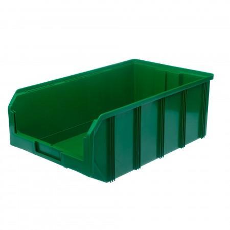 Пластиковый ящик Стелла-техник V-4-зеленый - Архивное и складское оборудование