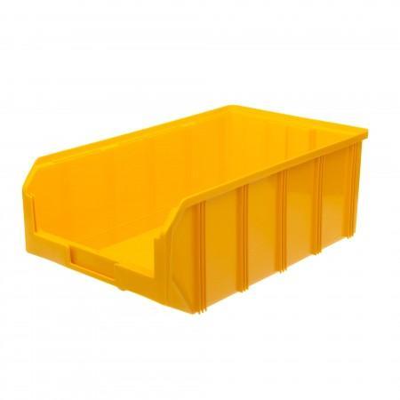 Пластиковый ящик Стелла-техник V-4-желтый - Архивное и складское оборудование