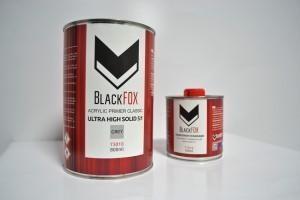 BlackFox 2К акриловый грунт-наполнитель HS 5:1 черный, в комплекте с отвердителем (750 + 150 мл.) - Архивное и складское оборудование