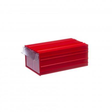 Пластиковый короб Стелла-техник С-2-красный-прозрачный - Архивное и складское оборудование