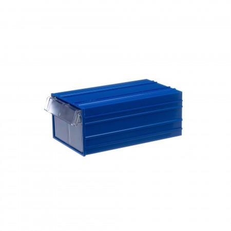 Пластиковый короб Стелла-техник С-2-синий-прозрачный - Архивное и складское оборудование