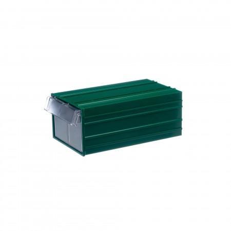 Пластиковый короб Стелла-техник С-2-зеленый-прозрачный - Архивное и складское оборудование