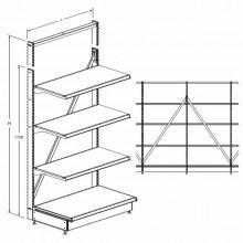 Стеллаж без задней стенки - Архивное и складское оборудование
