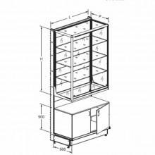 Стеллаж со стеклянной витриной - Архивное и складское оборудование