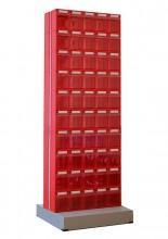 Стойка с коробами Стелла 406-00-00-10 (двусторонняя) - Архивное и складское оборудование