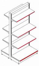 Стеллаж островной двухсторонний (Основная секция) - Архивное и складское оборудование