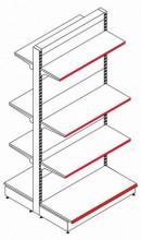 Стеллаж островной двухсторонний (приставная секция) - Архивное и складское оборудование