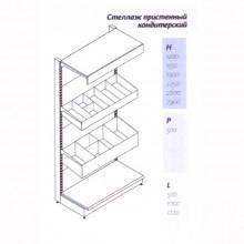 Стеллаж пристенный кондитерский - Архивное и складское оборудование