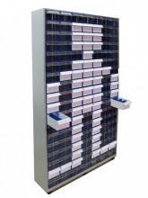Модульная система хранения С-2-126 1000 х 250 х 1820 мм с коробами (126 шт.) - Архивное и складское оборудование